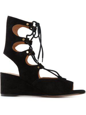 Chloé Sandalen mit Keilabsatz sneakers (zwart)