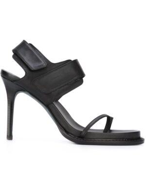 Ann Demeulemeester Blanche Stiletto-Sandalen mit Klettverschlü sneakers (zwart)