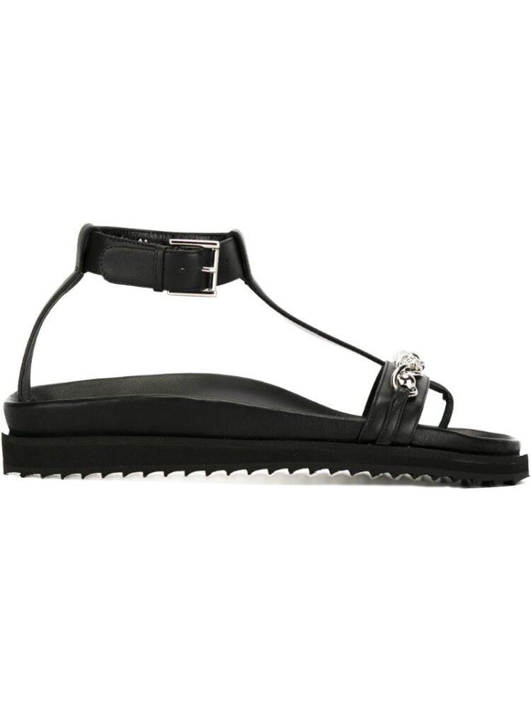 Alexander McQueen Sandalen mit Kettendetail sneakers (zwart)
