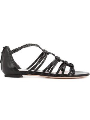 Alexander McQueen Sandalen mit Riemch sneakers (zwart)