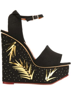 Charlotte Olympia 'Mischievous' Sandal sneakers (zwart)