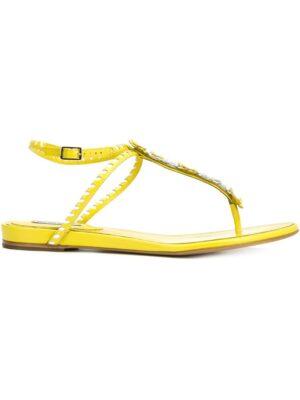 Tabitha Simmons Flache 'Pyper' Sandal sneakers (geel)