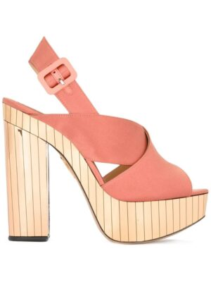 Charlotte Olympia 'Electra' Satin-Sandal sneakers (paars)