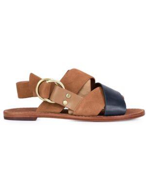 Derek Lam 10 Crosby Sandalen mit überkreuzten Riem sneakers (bruin)
