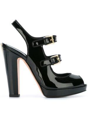 Alexander McQueen Sandalen mit Schnall sneakers (zwart)