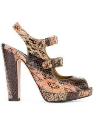 Alexander McQueen Schlangenleder-Sandalen mit zwei Schnall sneakers (overige kleuren)