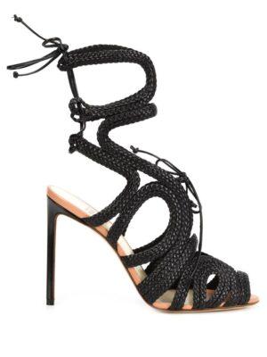 Francesco Russo Riemchensandalen mit Stiletto-Absatz sneakers (zwart)