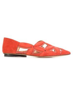 Derek Lam 'Saba' Slipper mit Laser-Cut sneakers (rood)