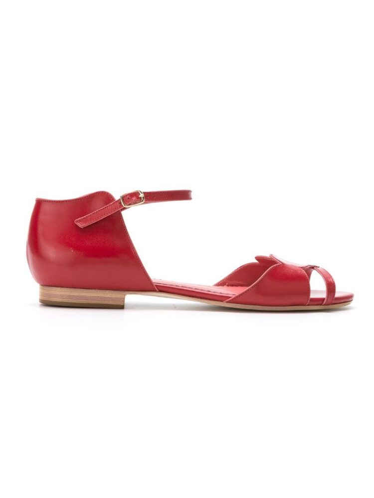h Chofakian leather sandal sneakers (rood)