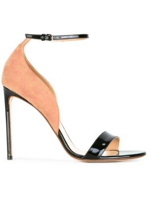 Francesco Russo Zweifarbige Stiletto-Sandal sneakers (zwart)