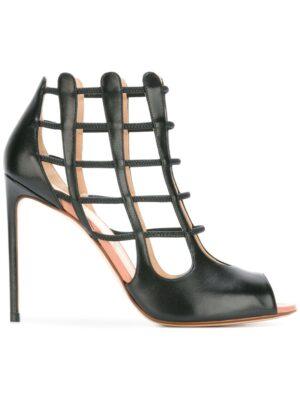 Francesco Russo Sandalen mit Gittermust sneakers (zwart)