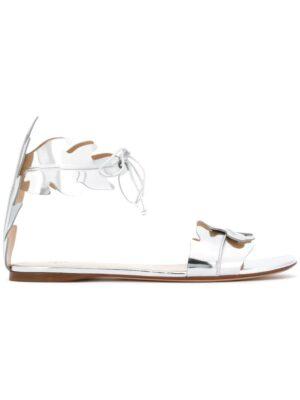 Francesco Russo Metallic-Sandalen mit Blattdesig sneakers (overige kleuren)