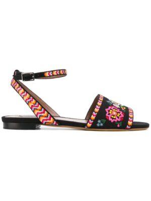 Tabitha Simmons flache 'Petal' Sandal sneakers (zwart)