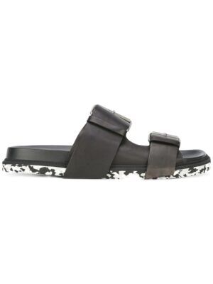 Maison Margiela Sandalen mit doppelter Schnall sneakers (zwart)