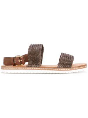 Casadei Sandalen mit gewebten Riem sneakers (bruin)