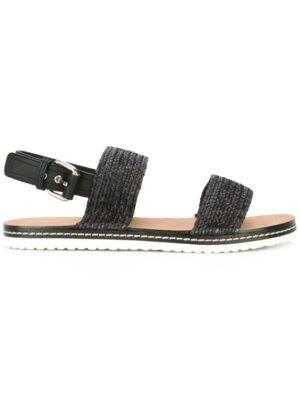 Casadei Geflochtene Sandal sneakers (zwart)