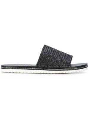 Casadei Pantoletten mit gewebtem Riem sneakers (zwart)