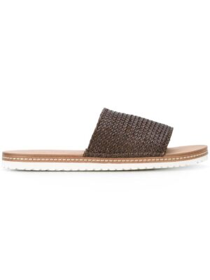 Casadei Pantoletten mit gewebtem Riem sneakers (bruin)