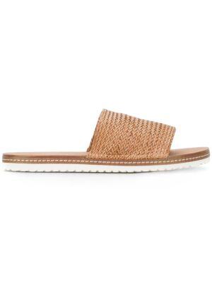 Casadei Gewebte Pantolett sneakers (bruin)