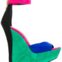 Balmain Wedge-Sandalen in Colour-Block-Opti sneakers (Overige kleuren)