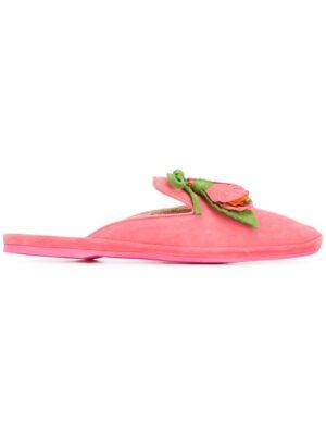 Car Shoe Mules mit Blumenapplikatio sneakers (paars)