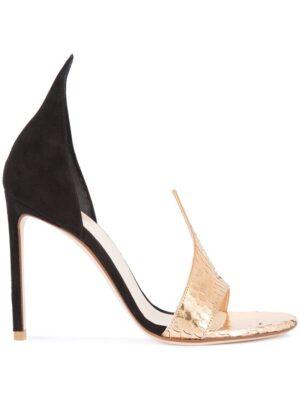 Francesco Russo Sandalen mit metallischem Detail sneakers (zwart)