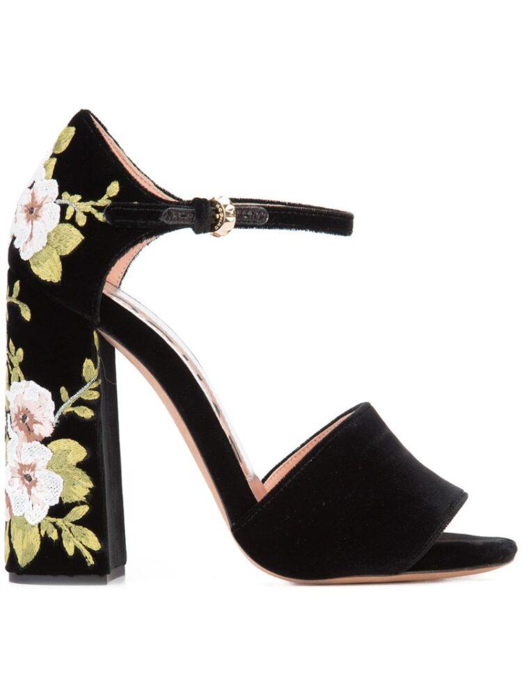 Rochas Sandalen mit besticktem Blockabsatz sneakers (zwart)