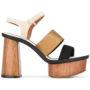 Emporio Armani Sandalen mit Plateusohl sneakers (zwart)