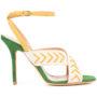 Alexa Wagner Sandalen mit überkreuzten Riem sneakers (wit)