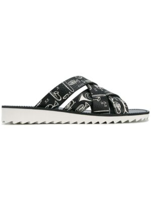Dolce & Gabbana Sandalen mit Musik-Print sneakers (zwart)