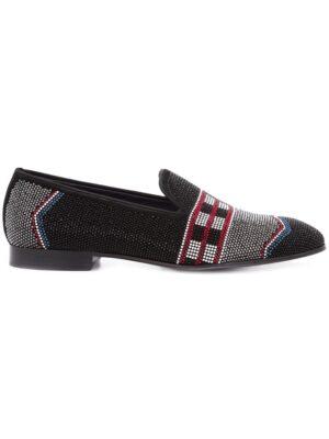 Louis Leeman Slipper mit Kristallverzierung sneakers (zwart)