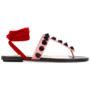 Attico Sandalen mit floralen Applikatio sneakers (paars)
