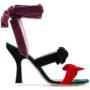Attico Sandalen mit Samtschleif sneakers (zwart)