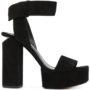 Alexander Wang Plateau-Sandalen aus Wildled sneakers (zwart)
