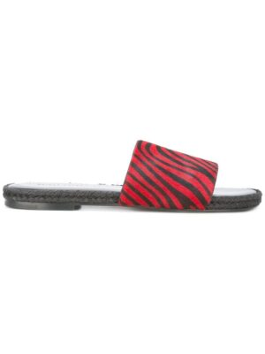 Haider Ackermann Pantoletten mit Zebramust sneakers (rood)