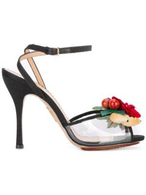 Charlotte Olympia Sandalen mit Blumen-Applikatio sneakers (zwart)