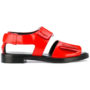 3.1 Phillip Lim Ledersandalen mit flacher Sohl sneakers (rood)