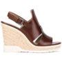 Calvin Klein Sandalen mit Wedge-Absatz sneakers (bruin)