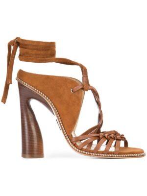 Paul Andrew 'Lindberg' Sandalen mit Knöchelband sneakers (bruin)