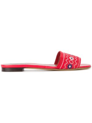 Tabitha Simmons 'Dizzy' Sandalen mit floraler Stickerei sneakers (rood)