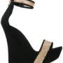 Balmain Riemchensandalen mit Wedge-Absatz sneakers (zwart)