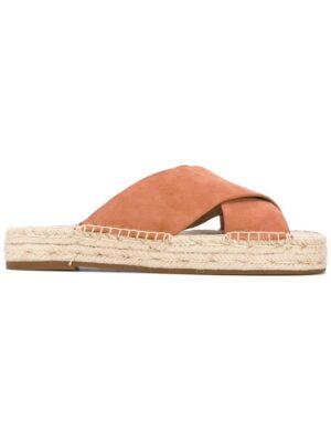 Michael Kors Sandalen mit gekreuzten Riem sneakers (bruin)