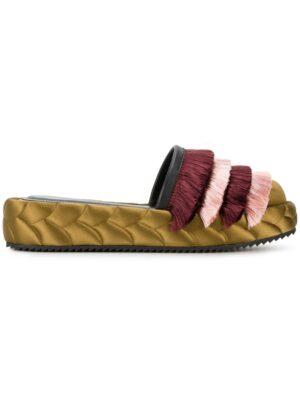 Marco De Vincenzo Gesteppte Seidenpantoletten mit F sneakers (overige kleuren)