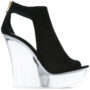 Balmain Sandalen mit Keilabsatz sneakers (zwart)