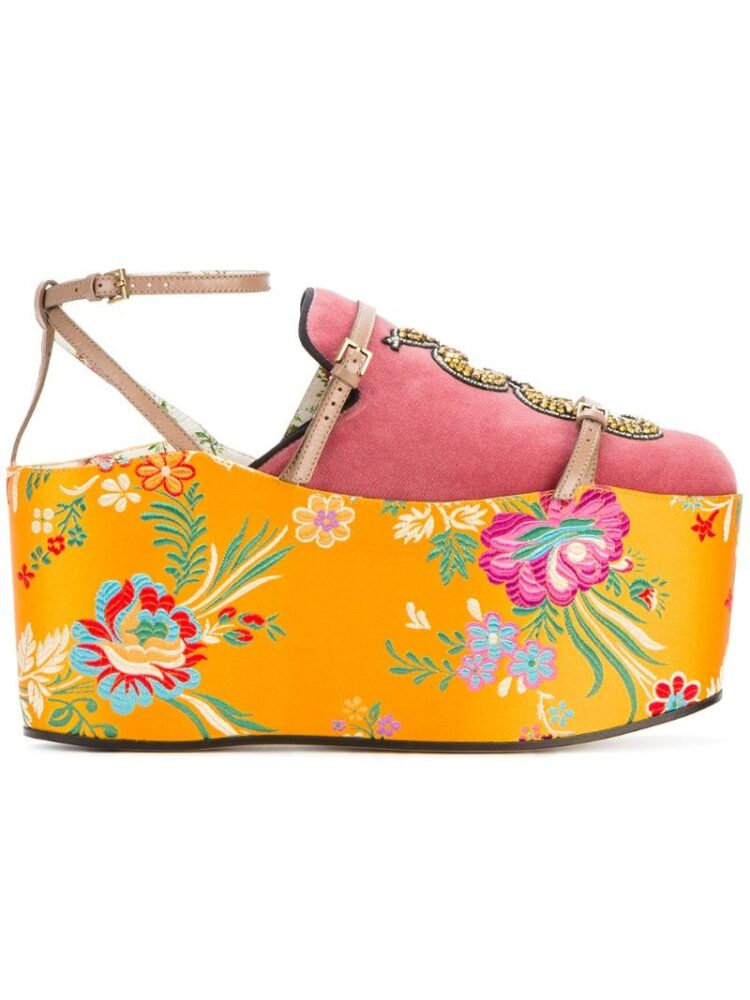 Gucci Slipper mit abnehmbarem Plateau sneakers (paars)