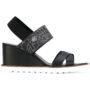 Armani Jeans Sandalen mit Keilabsatz sneakers (zwart)