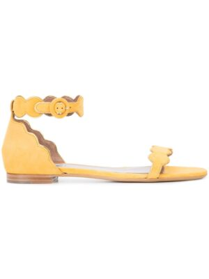 Tabitha Simmons Flache Sandalen mit gewellten Riem sneakers (geel)