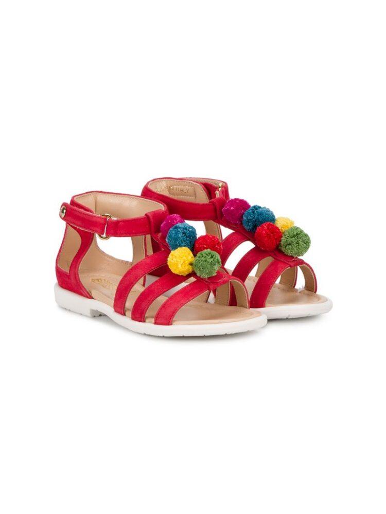 Aquazzura Mini Sandalen mit Bommel sneakers (paars)