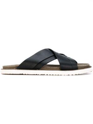 Buttero Pantoletten mit überkreuzten Riem sneakers (zwart)