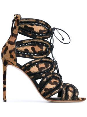 Francesco Russo Sandalen mit Knöchelriem sneakers (zwart)